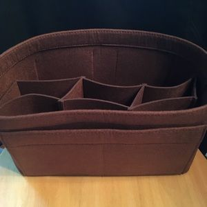 Handbags - Purse tote L Rich Brown Insert Protector Organizer